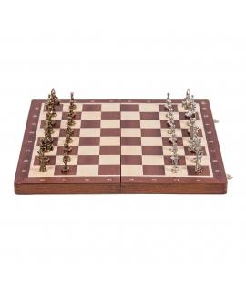 Chess Warsaw - Mahogany / Metal