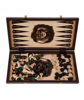 Löwe - Schach + Backgammon + Dame