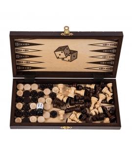 Löwe Mini - Schach + Backgammon + Dame