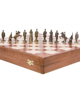 Schachfiguren Amerika - Metal Lux