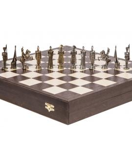 Schachfiguren Französisch - Metal Lux
