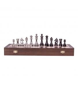 Schachfiguren - Staunton 6 - Silver Edition
