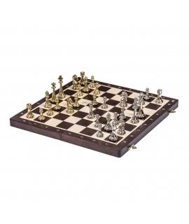 Schach Turnier Nr. 4 - Wenge / Metall