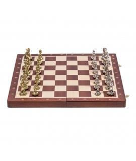 Schach Turnier Nr. 4 - Mahagoni / Metall